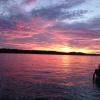 lake martin sunset