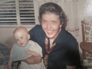 This is Nan with my older brother when he was a baby