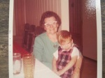 Sally Estelle (Dean) Taylor with my older brother, ca. 1970