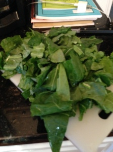 chopping collards
