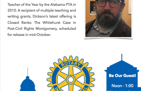 Foster Dickson at Rotary Montgomery Alabama